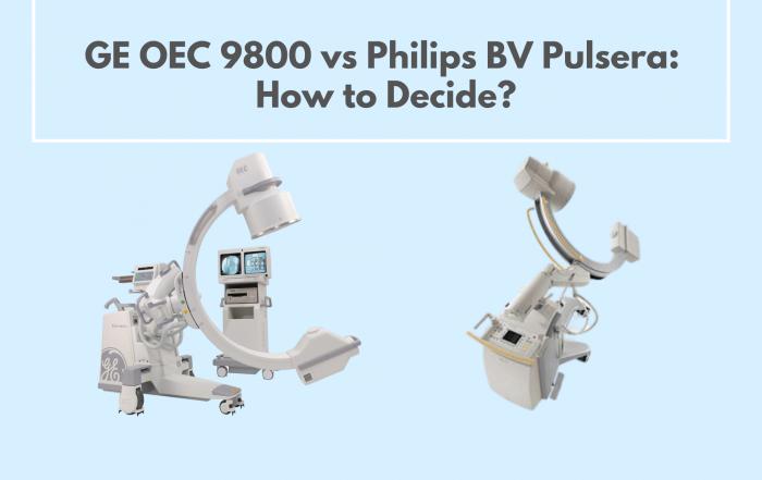 GE OEC 9800 vs Philips BV Pulsera